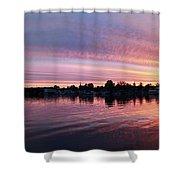 French Creek Sunrise Shower Curtain