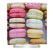 French Delicious Dessert Macaroons Shower Curtain