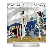 French Fashion Ad, 1923 Shower Curtain