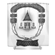 French Garden House Shower Curtain