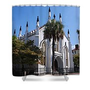 French Huguenot Church In Charleston Shower Curtain