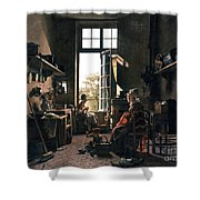 French Kitchen Shower Curtain