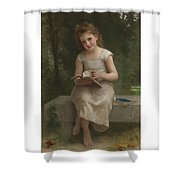 French La Liseuse Shower Curtain