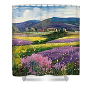 French Landscape Shower Curtain