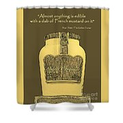 French Mustard Or Mustard King Shower Curtain