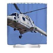 French Navy Westland Sea Lynx Shower Curtain