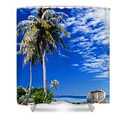 French Polynesia, Beach Shower Curtain