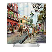 French Quarter Antiques Shower Curtain by Dianne Parks