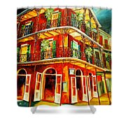 French Quarter Corner Shower Curtain