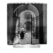 French Quarter Courtyard Shower Curtain