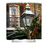 French Quarter Courtyard Shower Curtain