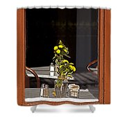French Quarter Resturant-signed-#4856 Shower Curtain