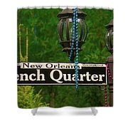 French Quarter Sign Shower Curtain