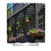 French Quarter Sunlit Balcony - New Orleans Shower Curtain
