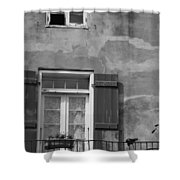 French Quarter Window Shower Curtain