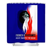 French Resistance Helps Throttle The Boche Shower Curtain