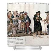 French Revolution, 1795-96 Shower Curtain