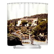 French Riviera 1955 Shower Curtain