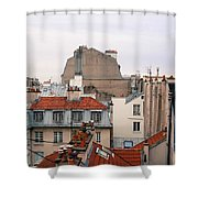 French Rooftops  Shower Curtain