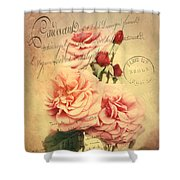French Rose Bouquet Shower Curtain