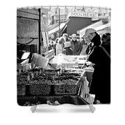 French Street Market Shower Curtain