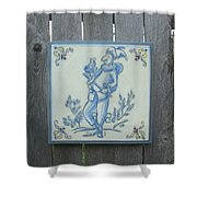 French Tile 1 Shower Curtain