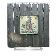 French Tile Colored 3 Shower Curtain