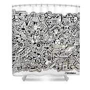 French Toast Shower Curtain by Chelsea Geldean