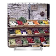 French Vegetable Stand Shower Curtain