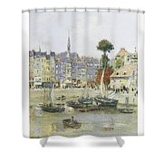 French View Of Honfleur Shower Curtain