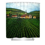 French Village In The Vineyards Shower Curtain