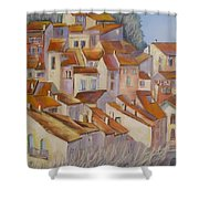 French Villlage Painting Shower Curtain