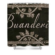 French Vintage Laundry Sign Shower Curtain