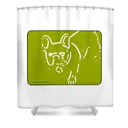 Frenchielove Design Chartreuse Shower Curtain