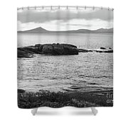 Esperance Bay Bw Shower Curtain