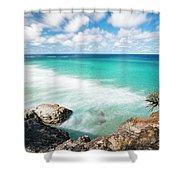 Frenchmans Beach On Stradbroke Island, Queensland. Shower Curtain