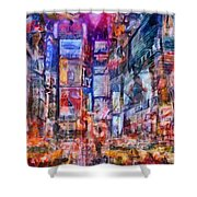 Frenzy New York City Shower Curtain