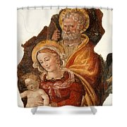 Fresco Holy Family Shower Curtain