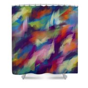 Fresh Abstraction Shower Curtain