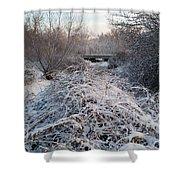 Fresh Blanket Of White Shower Curtain