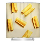 Fresh Butter Curls On Table Shower Curtain