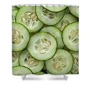 Fresh Cucumbers Shower Curtain