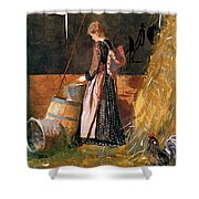 Fresh Eggs Shower Curtain by Winslow Homer