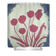 Fresh Flowers- 1st In Series-morning Shadow Shower Curtain