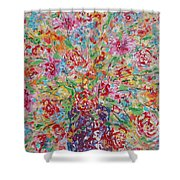 Fresh Flowers. Shower Curtain