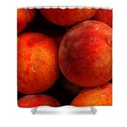 Fresh Fuzzy Peaches Shower Curtain