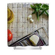 Fresh Italian Cooking Ingredients Shower Curtain