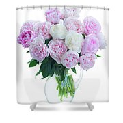 Vase Of Peonies Shower Curtain