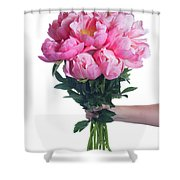 Peony Gift Shower Curtain