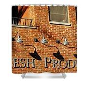 Fresh Produce Signage Shower Curtain